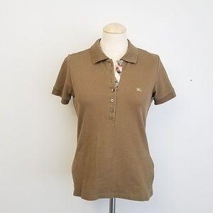 Burberry brown polo shirt
